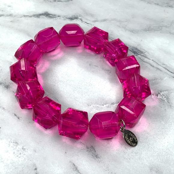 Tarina Tarantino Pink Classic Lucite Bracelet